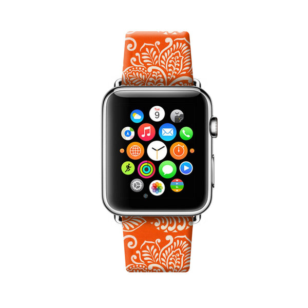 Orange Hawaii Flowers Apple Watch Strap Band 38 42 mm | Ultra-case.com