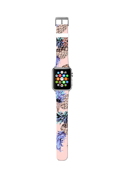 Pineapples Pattern Apple Watch Strap Band 38 42 mm – UltraCase
