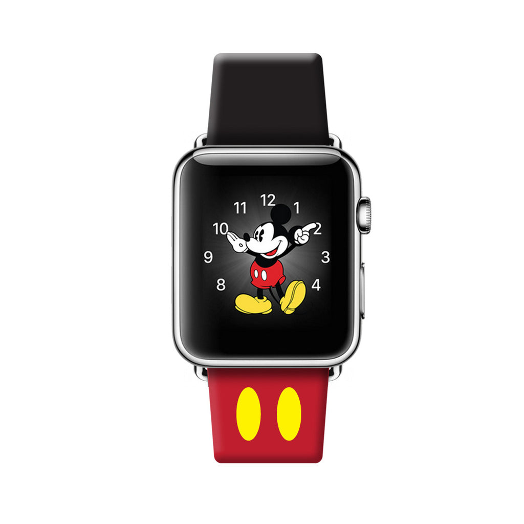 Red Black Print Genuine Leather Band for Apple Watch ...