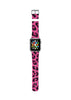 Custom Apple Watch Strap Leopard Hot Pink pattern  38mm / 40mm  , 42mm / 44mm