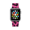 Custom Apple Watch Strap Leopard Hot Pink pattern 38 mm 42 mm