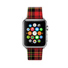 Custom Apple Watch Strap Tartan Red Pattern 38 mm 42 mm
