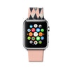Custom Apple Watch Strap Triangle Pattern Pink 38 mm 42 mm