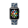 Custom Apple Watch Strap Blue Flowers Pattern 38 mm 42 mm