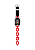 Custom Apple Watch Strap Red Black Inspired by Minnie  38mm / 40mm  , 42mm / 44mm