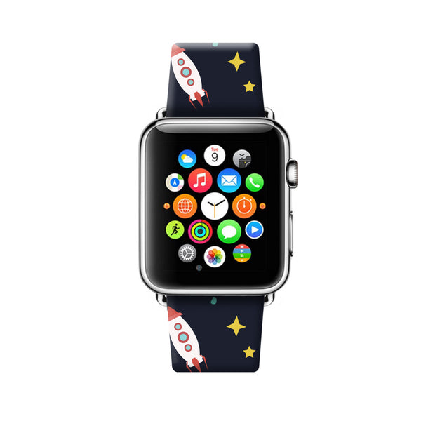 Custom Apple Watch Strap Space Planets  38mm / 40mm  , 42mm / 44mm