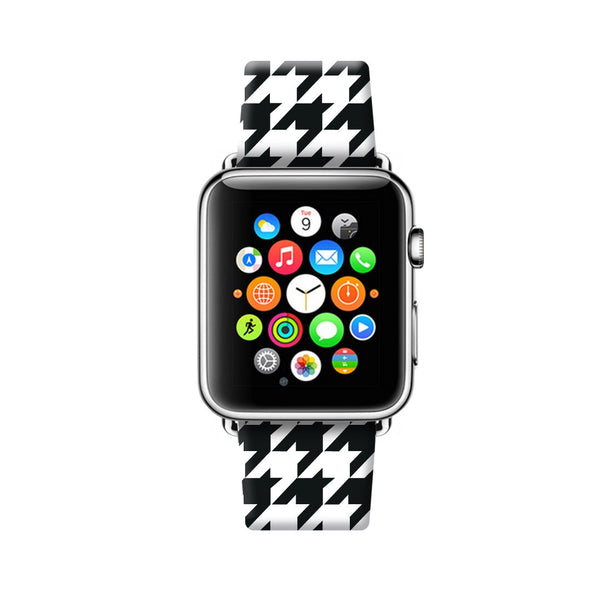 Custom Apple Watch Strap Houndstooth  38mm / 40mm  , 42mm / 44mm