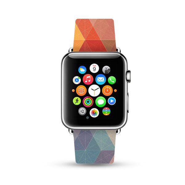 Abstract Colorful Geometric Pattern Watch Band Strap for Apple Watch - 38 mm / 42 mm