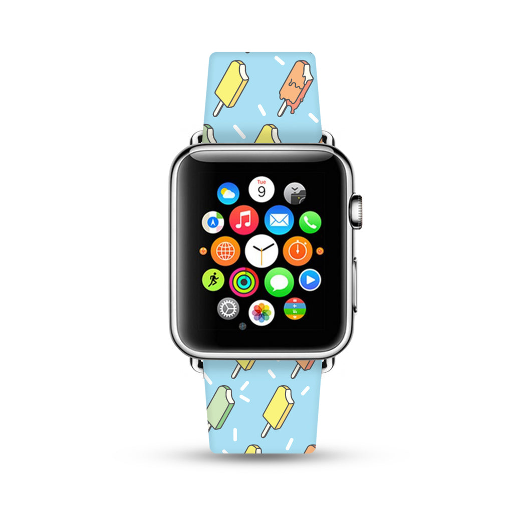 Ice lolly Pattern Watch Band Strap for Apple Watch - 38 mm / 42 mm