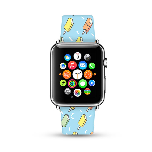 Ice lolly Pattern Watch Band Strap for Apple Watch -  38mm / 40mm  , 42mm / 44mm