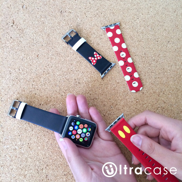 Red Black Inspired by Minnie Apple Watch Strap 38 42 mm