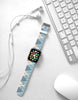 Blue Argyle Pattern Watch Band Strap for Apple Watch - 38 mm / 42 mm