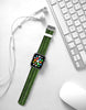 Green Bamboo Pattern Watch Band Strap for Apple Watch -  38mm / 40mm  , 42mm / 44mm