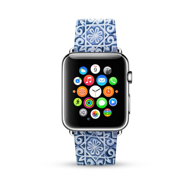Mandala Blue Pattern Watch Band Strap for Apple Watch -  38mm / 40mm  , 42mm / 44mm