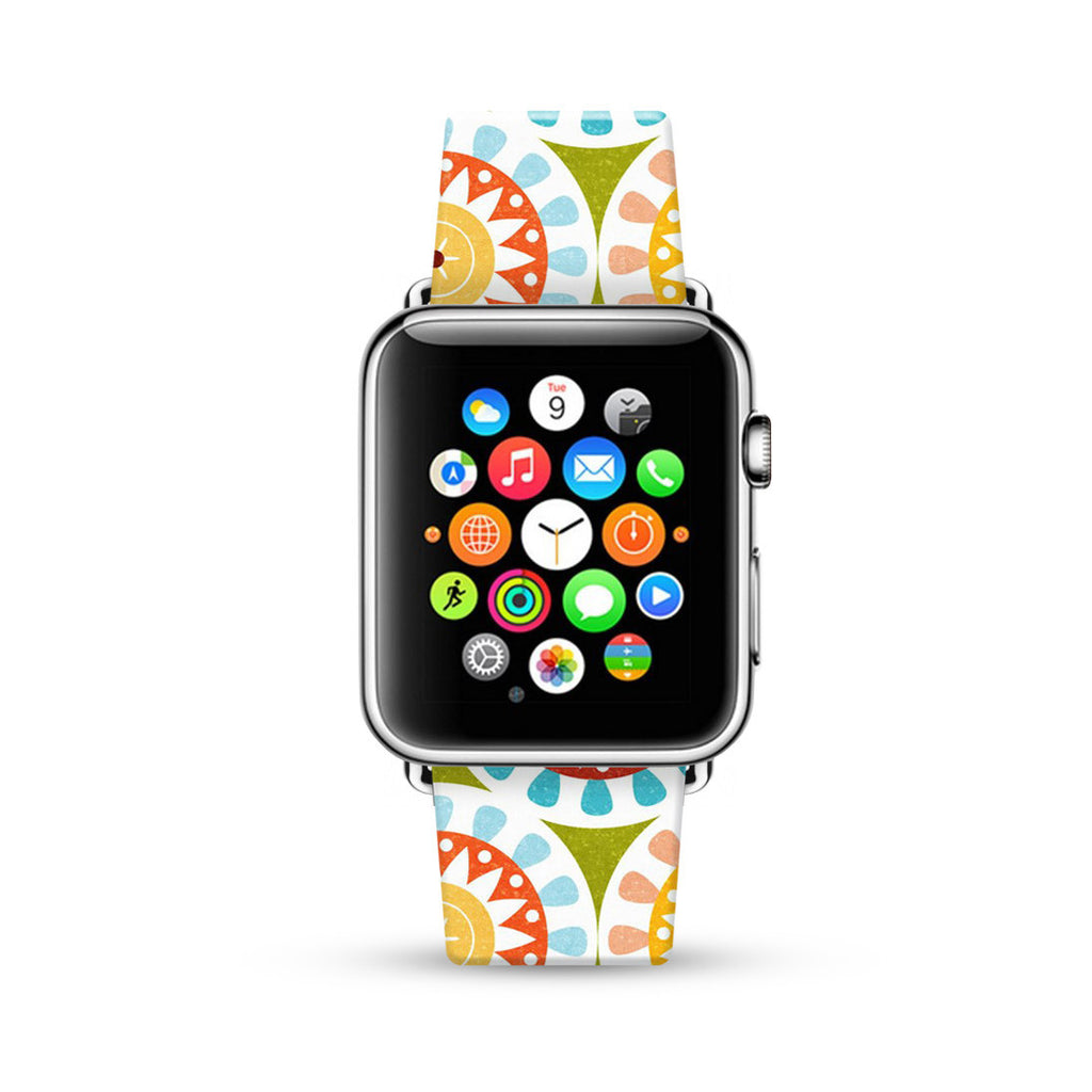 Mandala Colorful Pattern Watch Band Strap for Apple Watch -  38mm / 40mm  , 42mm / 44mm