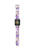 Flower pattern lilac Purple 10 Watch Band Strap for Apple Watch -  38mm / 40mm  , 42mm / 44mm