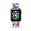 Flower pattern lilac Purple 10 Watch Band Strap for Apple Watch - 38 mm / 42 mm