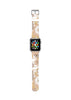 Earth Tone Brown Floral Pattern Watch Band Strap for Apple Watch - 38 mm / 42 mm