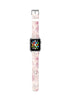Soft Pink Floral Pattern Watch Band Strap for Apple Watch -  38mm / 40mm  , 42mm / 44mm