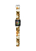 Brown Lily Floral Pattern Watch Band Strap for Apple Watch - 38 mm / 42 mm
