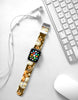 Brown Lily Floral Pattern Watch Band Strap for Apple Watch -  38mm / 40mm  , 42mm / 44mm