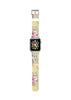 Yellow Rose Floral pattern Watch Band Strap for Apple Watch - 38 mm / 42 mm