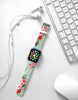 Pink Rose Mint Pattern Watch Band Strap for Apple Watch - 38 mm / 42 mm