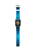 Vintage Floral Blue Watch Band Strap for Apple Watch - 38 mm / 42 mm