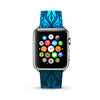 Vintage Floral Blue Watch Band Strap for Apple Watch -  38mm / 40mm  , 42mm / 44mm