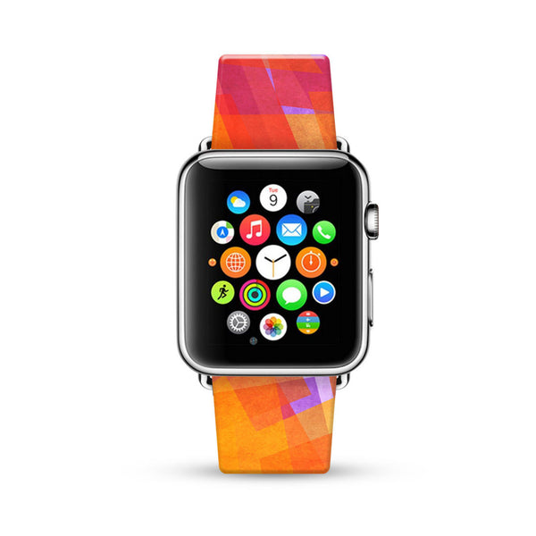 Abstract Art Orange Watch Band Strap for Apple Watch - 38 mm / 42 mm