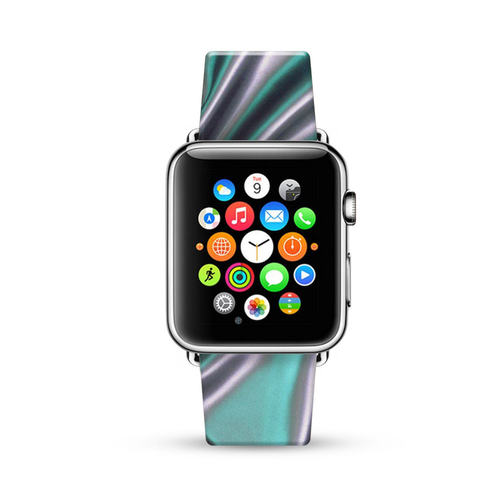 Abstract Silver Pattern Watch Band Strap for Apple Watch -  38mm / 40mm  , 42mm / 44mm