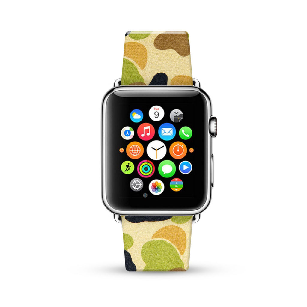 Camouflage Pattern Watch Band Strap for Apple Watch -  38mm / 40mm  , 42mm / 44mm