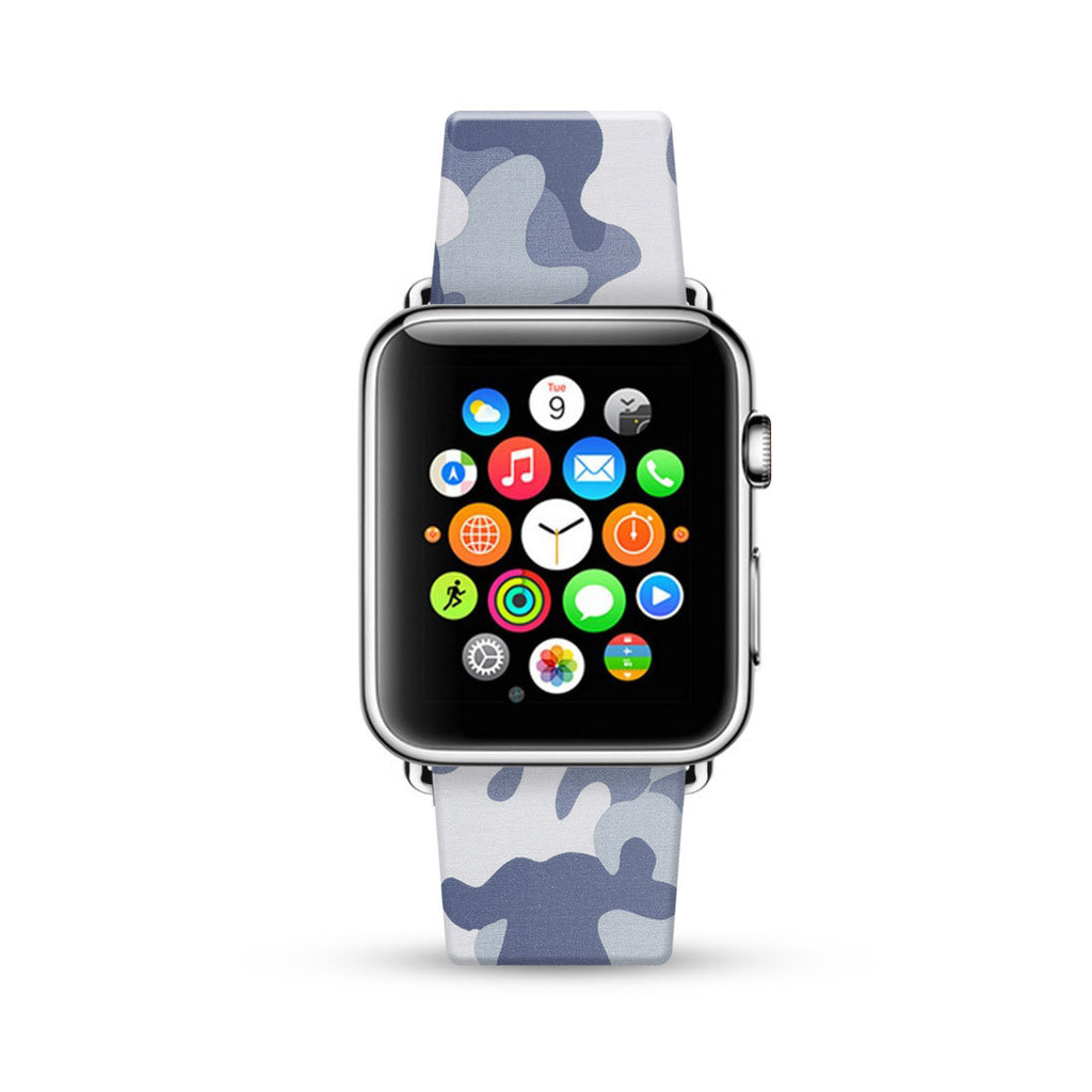 Grey Camouflage Pattern Watch Band Strap for Apple Watch - 38 mm / 42 mm