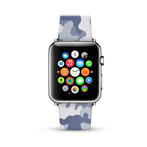 Grey Camouflage Pattern Watch Band Strap for Apple Watch -  38mm / 40mm  , 42mm / 44mm