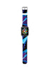 Abstract Geometric Black Blue Pattern Watch Band Strap for Apple Watch - 38 mm / 42 mm