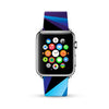 Abstract Geometric Black Blue Pattern Watch Band Strap for Apple Watch -  38mm / 40mm  , 42mm / 44mm
