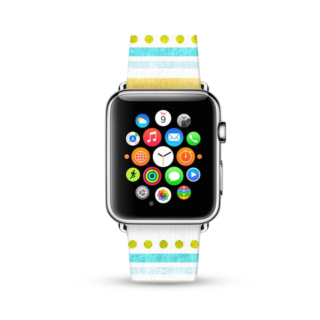 Dots and Lines Summer Style Watch Band Strap for Apple Watch - 38 mm / 42 mm