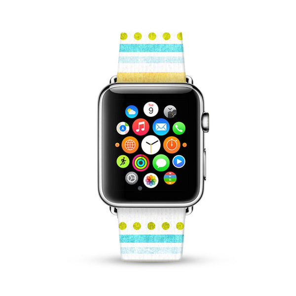 Dots and Lines Summer Style Watch Band Strap for Apple Watch -  38mm / 40mm  , 42mm / 44mm