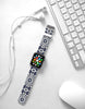 Mosaic Tiles Floral Pattern Watch Band Strap for Apple Watch - 38 mm / 42 mm