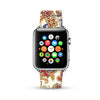 White Fancy Flower Pattern Watch Band Strap for Apple Watch -  38mm / 40mm  , 42mm / 44mm
