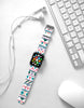 White Tribal Navajo Pattern Watch Band Strap for Apple Watch -  38mm / 40mm  , 42mm / 44mm