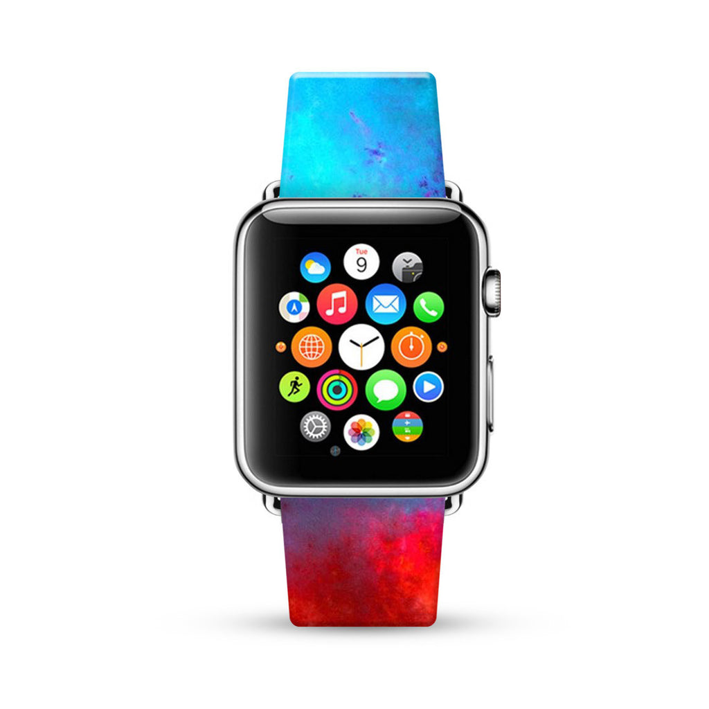 Abstract Art Blue Red Watch Band Strap for Apple Watch - 38 mm / 42 mm