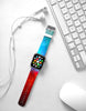 Abstract Art Blue Red Watch Band Strap for Apple Watch -  38mm / 40mm  , 42mm / 44mm