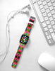 Geometric Art pattern Red Watch Band Strap for Apple Watch -  38mm / 40mm  , 42mm / 44mm