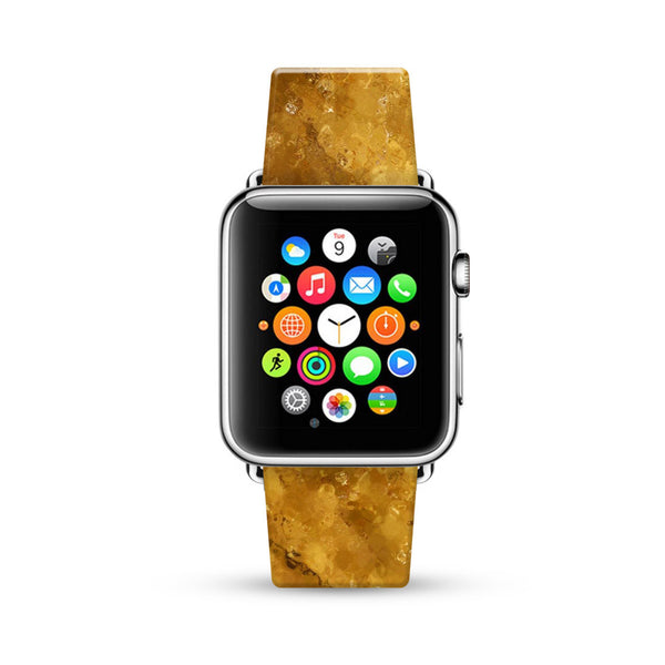 Abstract Art Glitter Gold Watch Band Strap for Apple Watch -  38mm / 40mm  , 42mm / 44mm