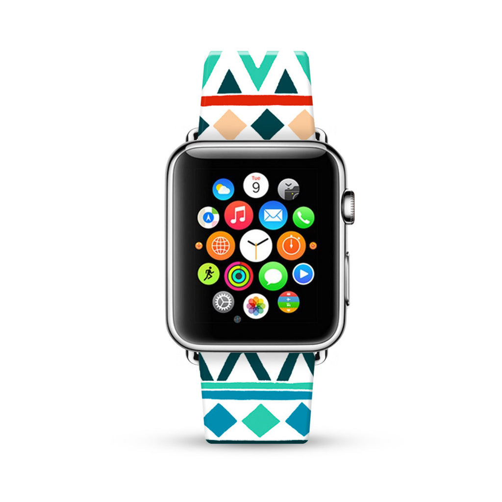 Colorful Navajo Tribal Pattern Watch Band Strap for Apple Watch - 38 mm / 42 mm