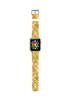 Golden Yellow Mosaic Tiles Pattern Watch Band Strap for Apple Watch - 38 mm / 42 mm