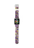 Purple Lilac Floral Pattern Watch Band Strap for Apple Watch -  38mm / 40mm  , 42mm / 44mm