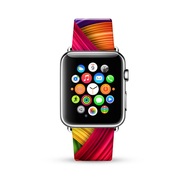 Abstract Art Brush Pattern Watch Band Strap for Apple Watch - 38 mm / 42 mm
