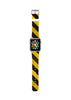 Yellow Hazard Stripes Watch Band Strap for Apple Watch -  38mm / 40mm  , 42mm / 44mm